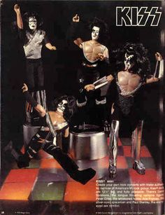 Kiss toys by Mego