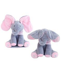 Peek-A-Boo Animated Singing Plush Elephant – Playpen Baby Elephant Party, Elephant Love, Elephant Nursery, Girl Nursery, Nursery Ideas, Baby Shower Centerpieces, Baby Shower Decorations, Baby Shower Gifts, Baby Gifts
