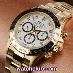 Rolex Cosmograph Daytona Yellow Gold REF: 16528 | Year Dec 1991 - You'd have to go a long way to find a solid gold, full set, Zenith Daytona in better condition than this! Even rarer with this impressive diamond dial, still retaining its original Rolex holographic sticker on the back, warranty certificate from '91 & polished wooden box. Fitted to a solid 1st series 78668 bracelet (pre fliplock) & powered by the first generation of Rolex's automatic chronograph movements - for sale at Watch…
