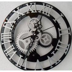 Roman Numeral Mechanical Gear Clock