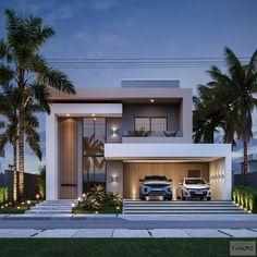 Modern Exterior House Designs, Modern House Facades, Dream House Exterior, Modern Architecture House, Modern House Design, 2 Storey House Design, Bungalow House Design, House Front Design, Classic House Design