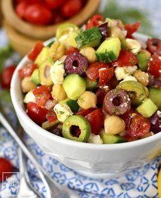 Meal Prep Greek Chickpea Salad