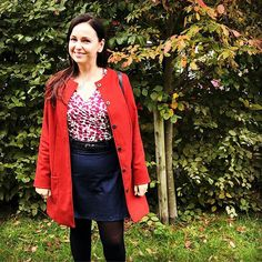 Just finished my first handmade coat in some beautifully autumnal red wool Melton. The coat is the… Coat Pattern Sewing, Sewing Patterns, Sew Over It, Leather Skirt, It Is Finished, Bright, Blazer, Wool, Autumnal