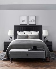 IKEA Comfort  Una Camera Da Letto Che Mi Piacerebbe Molto Black Bedroom Furniture With Gray Walls Black Bedroom Furniture