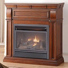 Duluth Forge Dual Fuel Vent Free Fireplace  26000 BTU Remote Control Chestnut Oak Finish -- Read more reviews of the product by visiting the link on the image.