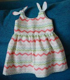 Itty bitty baby dress in zigzag print
