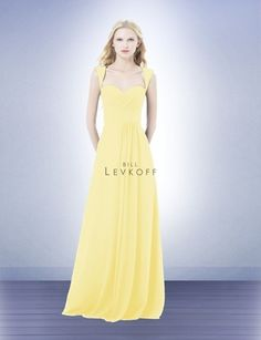 Bridesmaid Dress Style 485 - Bridesmaid Dresses by Bill Levkoff canary