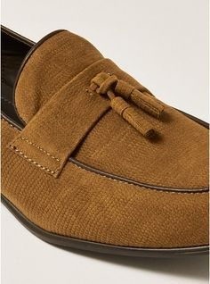 bd8bd56d94f Mens Brown Tan Faux Suede Prince Tassel Loafers