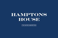 Logotype designed by Moffitt.Moffitt for Sydney furniture and homeware retailer Hamptons House