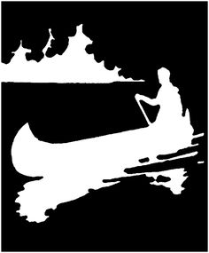 Retro Canoe Silhouette Beverage Coaster - black and white gifts unique special b&w style Canoe Pictures, Art Pictures, Silhouette Clip Art, Silhouette Images, Wood Burning Art, Create Animation, Graphics Fairy, Black And White Illustration, Black And White Pictures