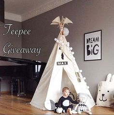 Win a BIG Moozle teepee over on Instagram. #moozleteepee #teepee #kidsteepee #childrensteepee #tipi #playtent