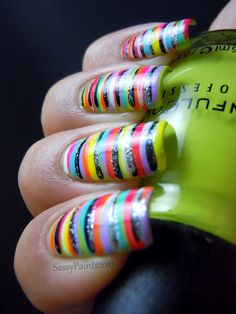"""Sassy Paints: 31 Day Challenge Day 12 """"Stripes"""""""