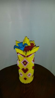 Yellow Vase (40cm tall)