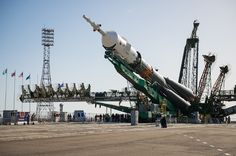Soyuz booster moved to launch pad to loft two-man crew – Spaceflight Now
