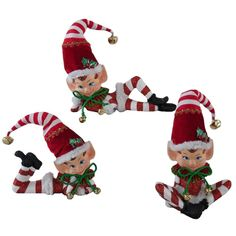 Katherine's Collection 7 Red and Green Elves Christmas Ornament 755338168737824227 Elf Christmas Decorations, Gingerbread Christmas Tree, Elf Decorations, Candy Cane Christmas Tree, Old World Christmas, Christmas Store, Christmas Elf, Vintage Christmas, Christmas Stockings