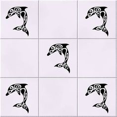 10 X Dolphin Under the Sea Wall Tile Sticker Stencil Bathroom