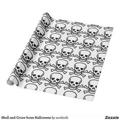 Skull and Cross-bone Halloween Wrapping Paper