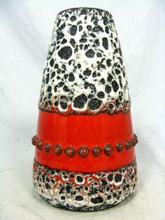 Beautiful glazed  70´s design  JOPEKO Keramik    Fat Lava   vase  236 15