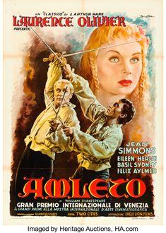 "Movie Posters:Academy Award Winners, Hamlet (Eagle Lion, R-1952). Italian 2 - Fogli (39.25"" X 55"")Anselmo Ballester Artwork.. ..."