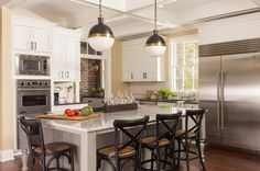Transitional Kitchen by Renewal Design-Build. Good double oven and microwave arrangement