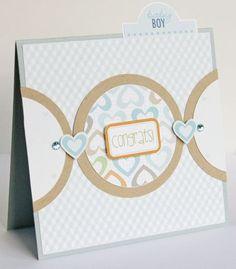 """""""Congrats"""" card, by Gretchen McElveen."""