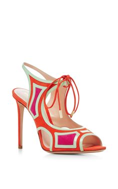 Cutout Suede Sandals by NICHOLAS KIRKWOOD Now Available on Moda Operandi