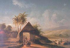 Lukisan Pemandangan Di Bogor Jawa Barat Sekitar 1875 Oleh Abraham Salm