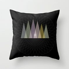 Nirvana Mountain Throw Pillow by Pia Schneider [atelier COLOUR-VISION] - $20.00 #art #artprint #black #geometric #graphicdesign #piaschneider #ateliercolourvision #digital #modern #basic #minimalism #home #deco #pillow #throwpillow #cushion