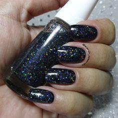 Misturinha Glitter Preto Holográfico