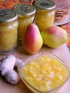 anka-weganka: Dżem z gruszek, pomarańczy i imbiru