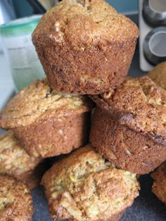 Fun Baking Recipes, Muffin Recipes, Dessert Recipes, Cooking Recipes, Easy Recipes, Healthy Muffins, Healthy Sweets, Desserts With Biscuits, Cake Factory