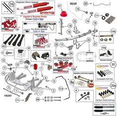 Jeep Cherokee    XJ       Suspension    Parts Exploded View    Diagram     Years 19842001  Jeep Cherokee    XJ