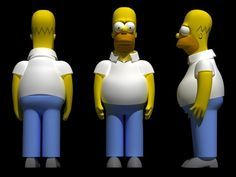 Homer Simpson rigged Model available on Turbo Squid, the world's leading provider of digital models for visualization, films, television, and games. Bolo Simpsons, Simpsons Toys, The Simpsons Theme, Clay Crafts, Diy And Crafts, Don Simpson, Modelos 3d, Fondant Figures, Pasta Flexible