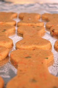 Carrot, peanut butter, oatmeal dog treats