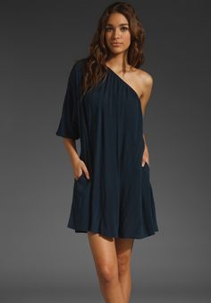 Nation Ltd Chelsea dress in midnight - $93