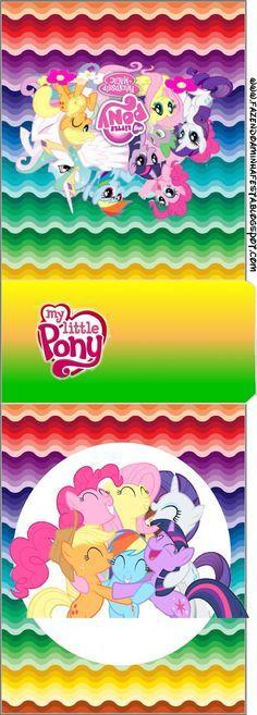 Imprimibles de My Little Pony 2. | Ideas y material gratis para fiestas y celebraciones Oh My Fiesta! Mini Pony, Pony 2, Festa Do My Little Pony, Fiesta Little Pony, Oh My Fiesta, Little Poney, Fluttershy, Mlp, Rainbow Dash