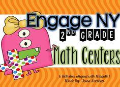 Great to use if you teach Engage New York Math curriculum! 2nd Grade Math Worksheets, 1st Grade Activities, Math 2, Second Grade Math, Grade 2, Engage Ny Math, Math Classroom, Classroom Ideas, Future Classroom