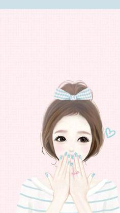 Sending my pin - pals love , thanks for looking Korean Anime, Korean Art, Korean Illustration, Cute Illustration, Girl Cartoon, Cute Cartoon, Girly M, Girly Pics, Girly Images