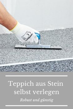 Steinteppich verlegen A carpet of stone? And it& a lot more comfortable than you might think - and it& also sturdy and durable, both indoors and outdoors! Floor Carpet Tiles, Carpet Flooring, Basement Stairs, Basement Flooring, Rope Shelves, Wooden Shelves, Balcony Flooring, Cactus Wall Art, Digital Print