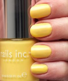 Pretty sure I have every nails inc colour, except this! Yellow nails look so cool!