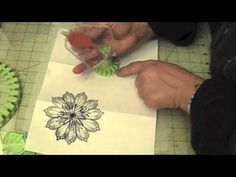 make doilies and a flower using the Inkadinkado Stamping Gears