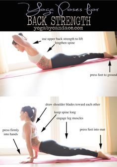 Pin it! Yoga for improving back strength.