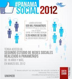 #PanamaSocial2012. El nuevo estudio de Redes Sociales en Panama ya esta disponible. Si desea mas información puede ingresar a www.facebook.com/unimercentroamerica
