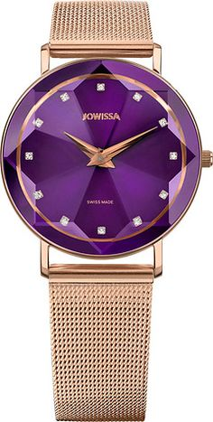 Our women watches are as unique as you. Find the right watch to express your individuality among the wide range of high quality models, intense colours, premium materials and gleamy reflections. All Swiss Made. Mesh Band, Ladies Watches, Gold Watch, Colours, Purple, Rose, Lady, Collection, Woman Watches