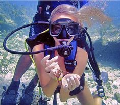 We Think We Just Found the Sexiest Angler Ever – Meet Emily Riemer Swimming Diving, Scuba Diving, Scuba Gear, Womens Wetsuit, Angler Fish, Diving Equipment, Underwater Photography, Sport Girl, Snorkeling