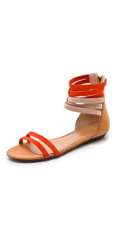 Rebecca Minkoff Baby Flat Suede Sandals | SHOPBOP