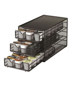 Look at this Black 54-Slot K-Cup Triple Drawer on #zulily today!