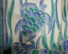 blue+green+turtles+shower++Curtain | Shower Curtain: Turtles Blue/Aqua