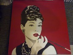 Audrey hepburn breakfast at tiffany 39 in wedha 39 s pop art - Cuadros audrey hepburn ...