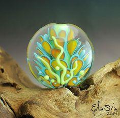 elasia  - Anfisa -  Handmade Glass Focal Lampwork Bead XXL SRA ooak #LampworkArtisanBeadGlassBeadsFocalSRA